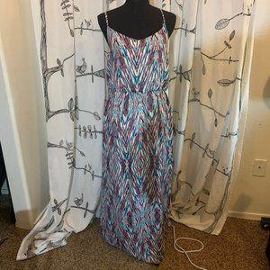 Spaghetti strap patterned maxi dress XL, Lily Rose